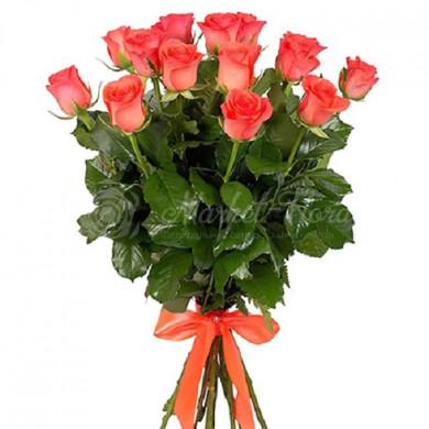 15 оранжевых роз